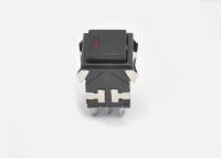 Кнопка KD2-22BBR Off-(On) черная без фиксации (LED-подсветка)