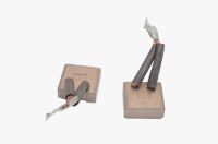 Меднографитовые щетки 10х25х23 поводок 32мм - медь (brush-4)