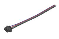 "Разъем SMP-04V-BC ""гн"" 4-pin с кабелем 0,15м AWG22"