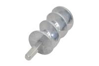 MRZ056 Шнек-вал к электромясорубке в сборе со втулкой L-13,5 см, D-51 мм, 10 зуб.