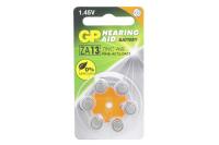 GP ZA13-6BL 1.4V 280mAh (для слуховых аппаратов)