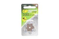 GP ZA312-6BL 1.4V 170mAh (для слуховых аппаратов)