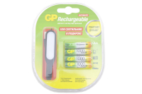 GP HR03-4BL 1000mA (AAA) Аккумулятор + USB фонарь (блистер)