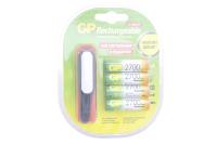GP HR6-4BL 2700mA (AA) Аккумулятор + USB фонарь (блистер)