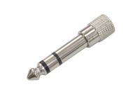 """Переходник 6.3mm """"шт"""" стерео - 3.5mm """"гн"""" стерео металл 2-125"""