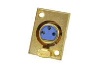 "Разъем XLR 3P (CANON) ""гн"" металл gold на корпус 1-531G"