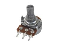 Резистор переменный 3pin B10K d=16mm L=15mm моно (с рифлением + шлиц)