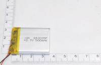 00-00015989 Аккумулятор 3.7V 500mAh 4.0x30x35mm универсальный с проводками