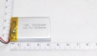 00-00015990 Аккумулятор 3.7V 600mAh 4.0x30x40mm универсальный с проводками