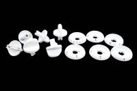 01040581 Набор ручек для газовой плиты Gefest 1200, 3200 (белые)