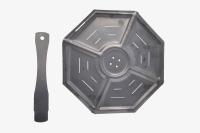 04022106 Подставка для защиты посуды от прямого соприкосновения с огнём, оксидиров., d-200 мм