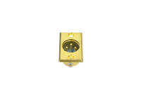 """Разъем XLR 3P (CANON) """"шт"""" металл gold на корпус 1-530G"""