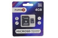 Карта памяти Fumiko microSDHC 4Gb Class10 с адаптером