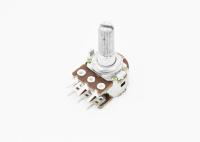 Резистор переменный 6pin(3+3) A20K d=16mm L=20mm стерео (с рифлением + шлиц)