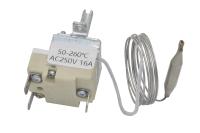 Термостат капиллярный TR-152 (MODTU 16) 50-260°C 250V 16A 3-pin (шток H-23мм длина трубки - 0.9м)