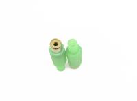 "Разъем RCA ""гн"" пластик на кабель зеленое 1-201GR"