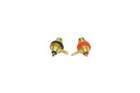 "Разъем RCA ""гн"" металл gold на корпус с изолятором (2шт) 1-291G"