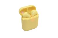 24426 Наушники TWS 12 Color сенсорное управление,вспывающее окно, желтые