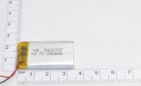 00-00015983 Аккумулятор 3.7V 350mAh 4.0x20x35mm универсальный с проводками
