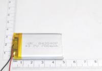 00-00017035 Аккумулятор 3.7V 700mAh 4.0x30x48mm универсальный с проводками