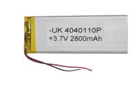 00-00016046 Аккумулятор 3.7V 2800mAh 4.0x40x110mm универсальный с проводками