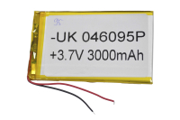 00-00016013 Аккумулятор 3.7V 3000mAh 4.0x60x95mm универсальный с проводками