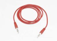 13439 Кабель AUX аудио 3,5мм A-A 1m, красный