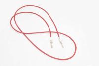 11984 Кабель AUX аудио 3,5мм A-A металл. разъем 1м, красный