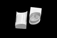 01041645 Крепление ручки духовки Darina GM441 (пара), белое (левое ПГ 50 02 016-02, правое ПГ 50 02 016-03)