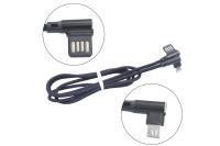16744 Кабель Walker C770 USB - Micro USB в матерчатой обмотке, угловой разъем, черный