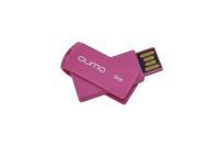 18605 Флэш Qumo 16Gb USB 2.0 Twist (светло-вишневый)