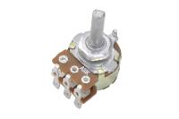 Резистор переменный 6pin(3+3) A10K d=16mm L=20mm стерео (с лыской) №001896