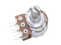 Резистор переменный 6pin(3+3) A100K d=16mm L=15mm стерео (с рифлением + шлиц) №001899