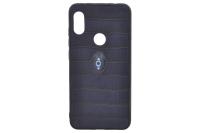 "Накл. кожа/силикон/пластик ""Gadzilla"" XIA RedMi Note 6pro синий"
