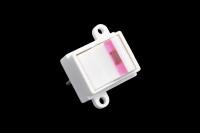 Переключатель MJ-15 250V 10A Off-On розовый (2C)