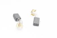 574 Электроугольная щетка Rezer 5х8х11 пружина, пятак-зацепы для Интерскол ДЭ-500ЭР (пара)