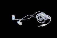 23217 Наушники-вкладыши со светящимся кабелем и микрофоном Human Friends Lumen blue