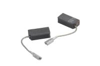 1607014145 Комплект угольных щеток для УШМ Bosch A-86, 15x8x5, проводок клемма-мама, угол скошен