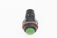 Кнопка DS-211 Off-On зеленая 12V 1A с фиксацией