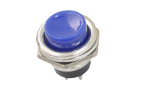 Кнопка PBS-26B Off-(On) синяя без фиксации 36-3352