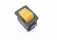 Переключатель KCD1-111-2 (On)-Off желтый 250V 6A (3c) без фиксации