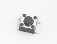 Кнопка 4-pin 6x6x4.3 mm L=1mm IT-1102W On-(Off) 12V 50mA (№63)