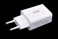 21444 Сетевое зарядное устройство XO L36, 18W, 1USB разъем (быстрая зарядка QC3.0) блочок, белый