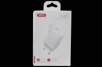 21974 Сетевое зарядное устройство XO L40, 18W, 1Type-C быстрая зарядка  (работает с iPhone 8/10/11/12+), белый