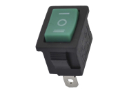 Переключатель KCD1-103-2 250V 6A On-Off-On зеленый
