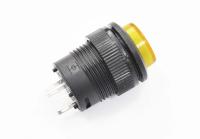 Кнопка R16-503BD-Y Off-(On) 250V 1A D=16mm желтая (без фиксации) LED подсветка - 3V