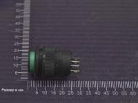 Кнопка R16-503AD-G Off-On 250V 1A D=16mm зеленая (с фиксацией) (LED подсветка - 3V)