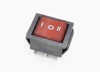 Переключатель KCD4-601-C-R On-Off-On красный 250V 15A T85 (6c)