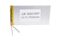 00-00024883 Аккумулятор 3.7V 7000mAh 3.5x80x150mm универсальный с проводками