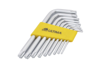 122005 Набор ключей TORX Ultima, 9 шт в наборе, CrV, T10-T50, короткие
